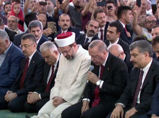 DİB Başkanı Ali Erbaş ve Erdoğan